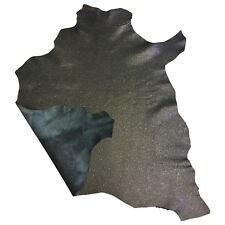 Black Leather Hide Thin Lambskin Skins Craft Supply Hides Genuine Leather FS913