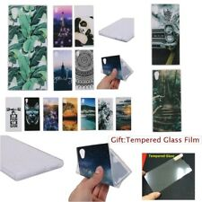 Fashion SOFT RUGGED TPU Silicone 1.2mm Back GEL Case Cover For Sony Xperia Phone
