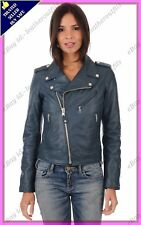 Womens Genuine Lambskin Motorcycle Real Leather Jacket Slim fit Biker Jacket #89