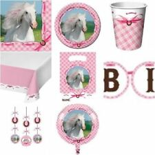 HEART MY HORSE Pink Pony Birthday Party Range - Tableware Balloons & Decoration