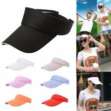 Men Women Adjustable Breathable Sun Visor Plain Hat Golf Tennis Beach Sports Cap
