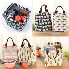 New Reusable Thermal Lunch Tote Bag Cooler Bag Insulated Lunch Box Picnic Bags