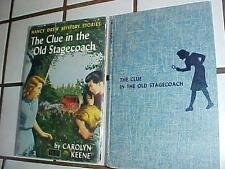 NANCY DREW  CLUE IN THE OLD STAGECOACH WRAP DUST JACKET TWEED 2nd Printing #37