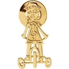 Little Red Tricycle Lapel Pin 14k Yellow Gold