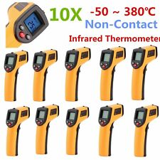 10PCS Non-Contact LCD IR Laser Infrared Digital Temperature Meter Thermometer BZ