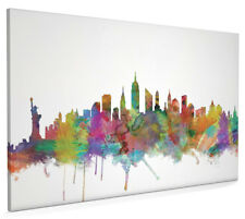 New York City Skyline Cityscape Box Canvas and Poster Art Prints (1200)