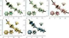 20pcs Antique Silver Tone Patina Wash Bead Tassel Cap Bell Flower Cone Bohemian