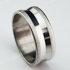 12p-36pcs Stainless steel Fashion Women Mens Silver Frosted Rings Wholesale Lots