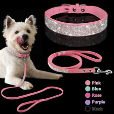 Bling Rhinestone Pet Dog Collars and Leads Leash for Small Medium Dog Puppy OP