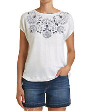 NEW JAG WOMENS Embroidery Print Tee T-Shirts