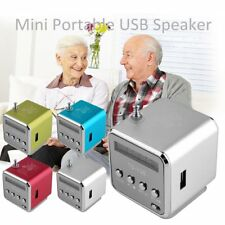 Portable Micro SD TF USB Mini Stereo Speaker Music Player PC MP3 /4 FM Radio VU