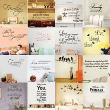 44 Styles Removable Quote Art Decor Vinyl Wall Sticker Mural DIY Home Room Decal