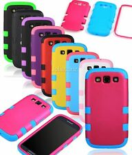 Hybrid Rubber Hard Impact Case Shockproof Cover For Samsung Galaxy S3 III I9300