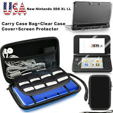 Carrying Bag+Clear Case Cover+Screen Protector for New Nintendo 3DS XL US Stock