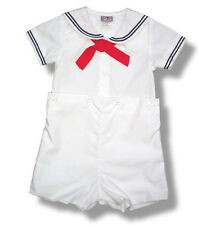 Sailor Suit Boys White Infant Toddler NWT Nautical by Petit Ami