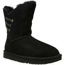 Ugg Australia Constantine Black Womens Suede Mid-Calf Pull-on Winter Boots