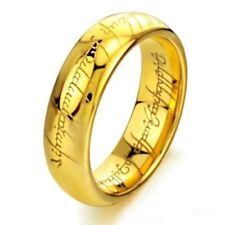 RING MAN WOMAN LORD LORD OF THE RINGS ELVISH TUNGSTEN GOLD PLATED NEW