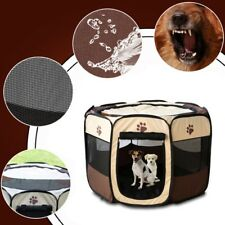 US Pets Dog Cat Fence Kennel Playpen Tent Puppy Exercise Funny Cage Bed Portable