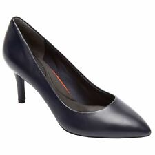 Rockport Total Motion Pointed Toe Pump Ocean Womens Leather Hi-Heels Court Shoes