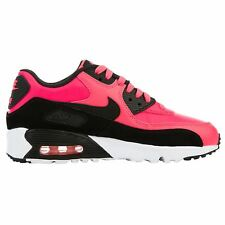 Nike Air Max 90 Racer Pink Black Youth Leather Suede Low-Top Casual Trainers