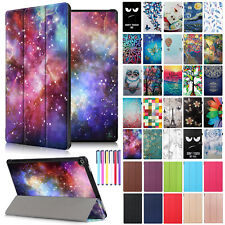 """Smart Folio PU Leather 10.1"""" Inch Case Cover For Amazon Kindle Fire HD 10 2017"""