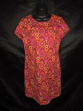Laundry Shelli Segal Size 6 Pink Orange Yellow Floral Dress Embroidered Sheath S