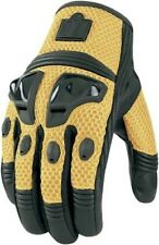 Icon Justice Mesh Gloves Blue 2XL Yellow Small ONLY for Motorcycle Street Riding