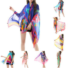 Womens Floral Large Sarong Beach Pareo Dress Wrap Swimwear Cover Up Scarf Wrap