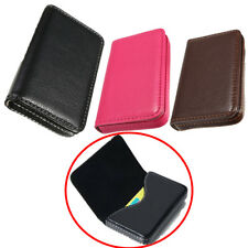 New Mens Lady Pocket PU Leather Business ID Credit Card Holder Case Wallet U.S.A