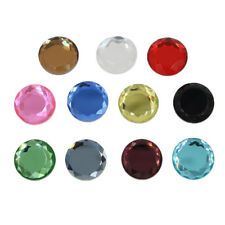 25pcs Round Faceted Glass Crystal Cabochon Flatback Embellishment for Craft