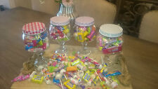 Beautiful Vintage Glass Sweet Jars - 300g of Retro Sweets with every Jar FREE