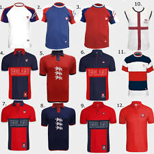 Men's Football England Rugby UK Footy T-shirts Polo Shirts Sports Flag M to XL