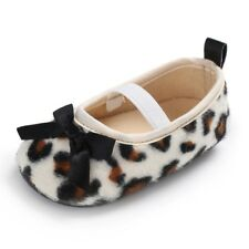 Leopard Toddler Newborn Baby Girl Soft Sole Crib Shoes Prewalker Sneakers 0-18M