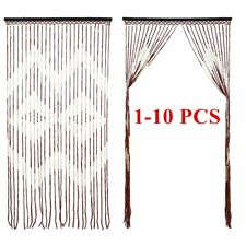 1-10 PCS Provence Wooden Beaded Door Curtain Hanging Wooden Curtain 90x180cm SE