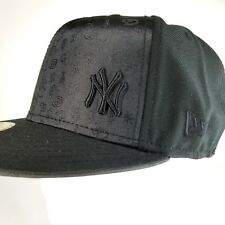 NEW YORK YANKEES New Era 5950 Fitted Cap MLB Baseball BLACK Hat Size PICK SIZE