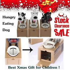 Puppy Hungry Eating Dog Coin Bank Money Saving Box Piggy Bank Kids Gifts TJ