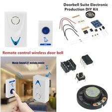 LED Wireless Chime Door Bell Doorbell & Wireles Remote control 32 Tune Songs TN