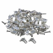 100pcs Electric Guitar Roller String Trees String Retainers with Screws