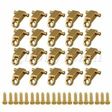 20pcs Electric Guitar Copper Roller String Trees String Retainers Golden