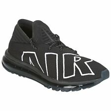 Nike Air Max Flair Black White Mens Mesh Lace-Up Running Sneakers Trainers