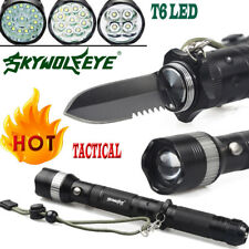 Military Tactical T6 LED Light 80000 Lumens 18650 Flashlight Torch Camping Lamps