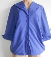 Cold Water Creek Size 12 14 Blue 3/4 Sleeve Evening Formal Blouse Jacket Top NWT