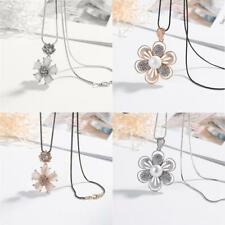 Valentines Gifts Exquisite Crystal Rhinestone Flower Pendant Necklace Chain