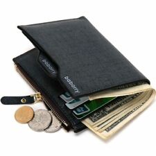 Men wallets Wallet ID Card holder Coin Purse Pockets Clutch with zipper Bag