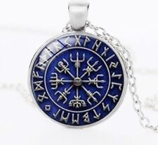 vikings Symbols the helm of awe norse viking Glass jewelry Pendant Necklace