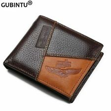 Famous Luxury Brand Genuine Leather Men Wallets Coin Pocket Zipper Men's Leather
