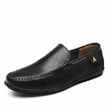 Mens Driving Shoe Flats Leather Casual Slip on Moccasins Loafers Shoes big size