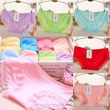 Modal Cotton High Elasticity Candy Color Women Briefs Underwear Sexy Lace FT