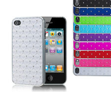 Luxury Bling Diamond Diamante Chrome Design Case Cover For Apple iPhone 4 4S UK
