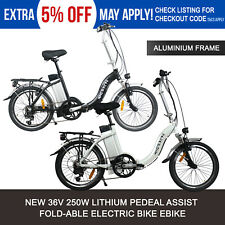 Fold-able PEDAL ASSIST eBike ELECTRIC BIKE 36V 250W MOTOR SHIMANO GEARS BICYCLE